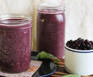 Blueberry hemp smoothie with secret sneaky spinach