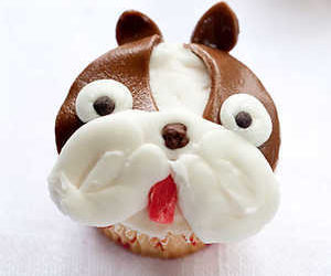 Boston Terrier Cupcakes