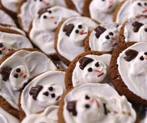 Melted Snowman Peanut Butter Cookies