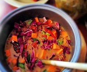 Purple Cabbage And Sunbutter Soup
