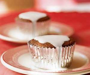 Double Ginger Cupcakes with Lemon Glaze