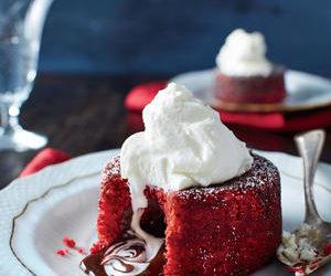 Molten Red Velvet Cakes