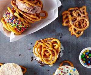 Funnel Cake Ice-Cream Sandwiches