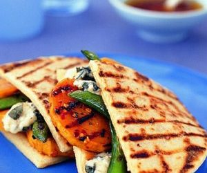 Grilled Sweet Potato and Blue Cheese Panini