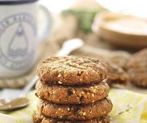 Almond Butter Hemp Seed Cookies