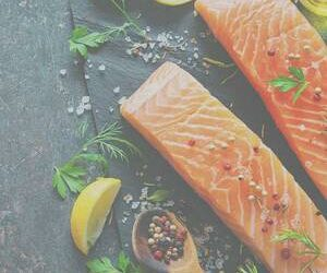 Cannabis Infused Slow-Roasted Citrus Salmon with Herb Salad