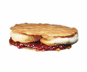 Waffle Cookies With Marshmallows and Jam