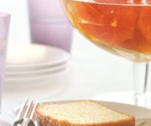 Boozy Clementines with Pound Cake recipes