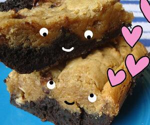 Cakespy: Blondie-Topped Brownies Recipe